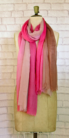 Veda Tempting Three Colours Scarf - Knot Only - 1