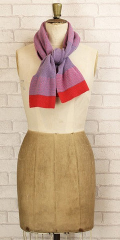 Annie Neill Dot Stripe Scarf Lilac - Knot Only