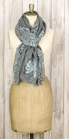 Becksondergaard broken triangles scarf dove sky - Knot Only - 1
