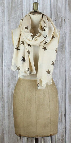 Becksondergaard Stars of Tomorrow Scarf Sand - Knot Only - 1