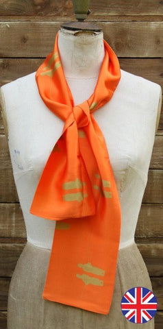 Charlotte Taylor fisherman scarf orange - Knot Only - 1