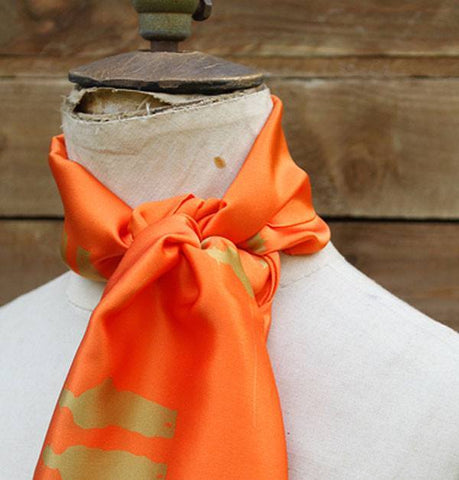 Charlotte Taylor fisherman scarf orange - Knot Only - 3