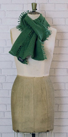 Essen.C Fringed Rib Scarf Turf - Knot Only - 1