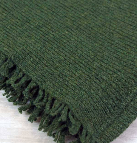 Essen.C Fringed Rib Scarf Turf - Knot Only - 3
