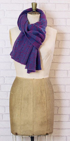 Essen.C Ladder Scarf Chianti & Blue - Knot Only - 1