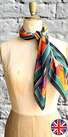 Fabryan Paint Splash Scarf Orange - Knot Only - 1
