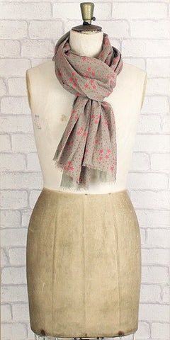 Jo Edwards star print scarf in blush - Knot Only - 1