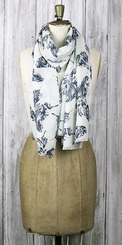 Lola Rose Heritage Butterflies Scarf Grey - Knot Only - 1