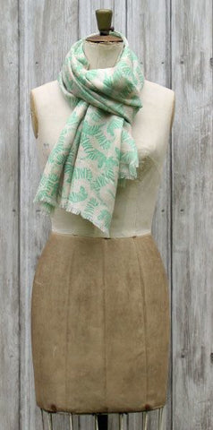 Lola Rose Zebra Scarf Green - Knot Only - 1