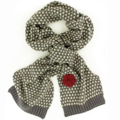 Powder Camille Scarf Charcoal & Cream - Knot Only
