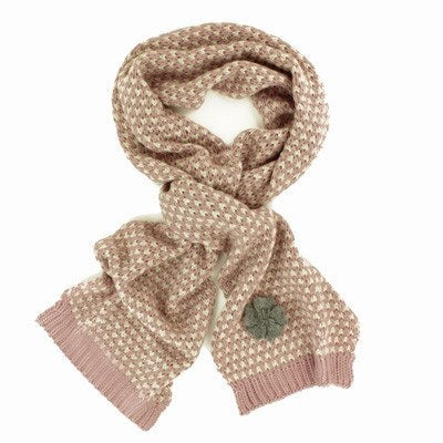 Powder Camille Scarf Pale Pink & Cream - Knot Only