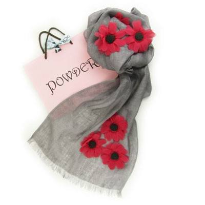 Powder Poppy Linen Scarf - Knot Only