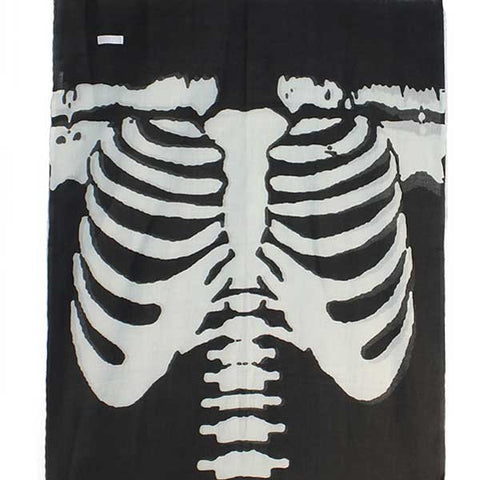 Shruti Skeleton Scarf Grey - Knot Only - 2