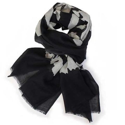 Shruti Skeleton Scarf Grey - Knot Only - 3