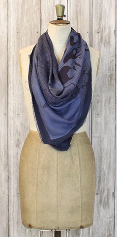 Stylesnob Sally Scarf Dusty Blue - Knot Only - 1