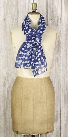 The Bufandary spriggy Heart Scarf Navy - Knot Only - 1