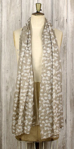 The Bufandary Spriggy Heart Scarf Taupe - Knot Only - 1