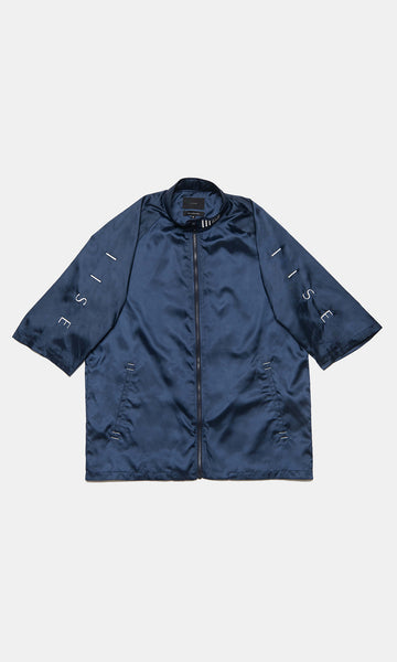 Short Collar Jacket - Navy