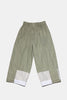 Wide Cropped Pants - Green