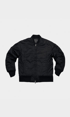 Logo Bomber Jacket - Black