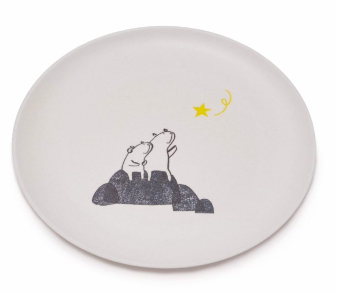 Bears Wishing on a Star Plate