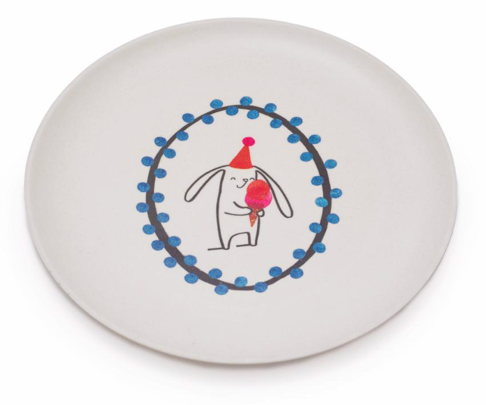 Ice Cream Bunny Plate