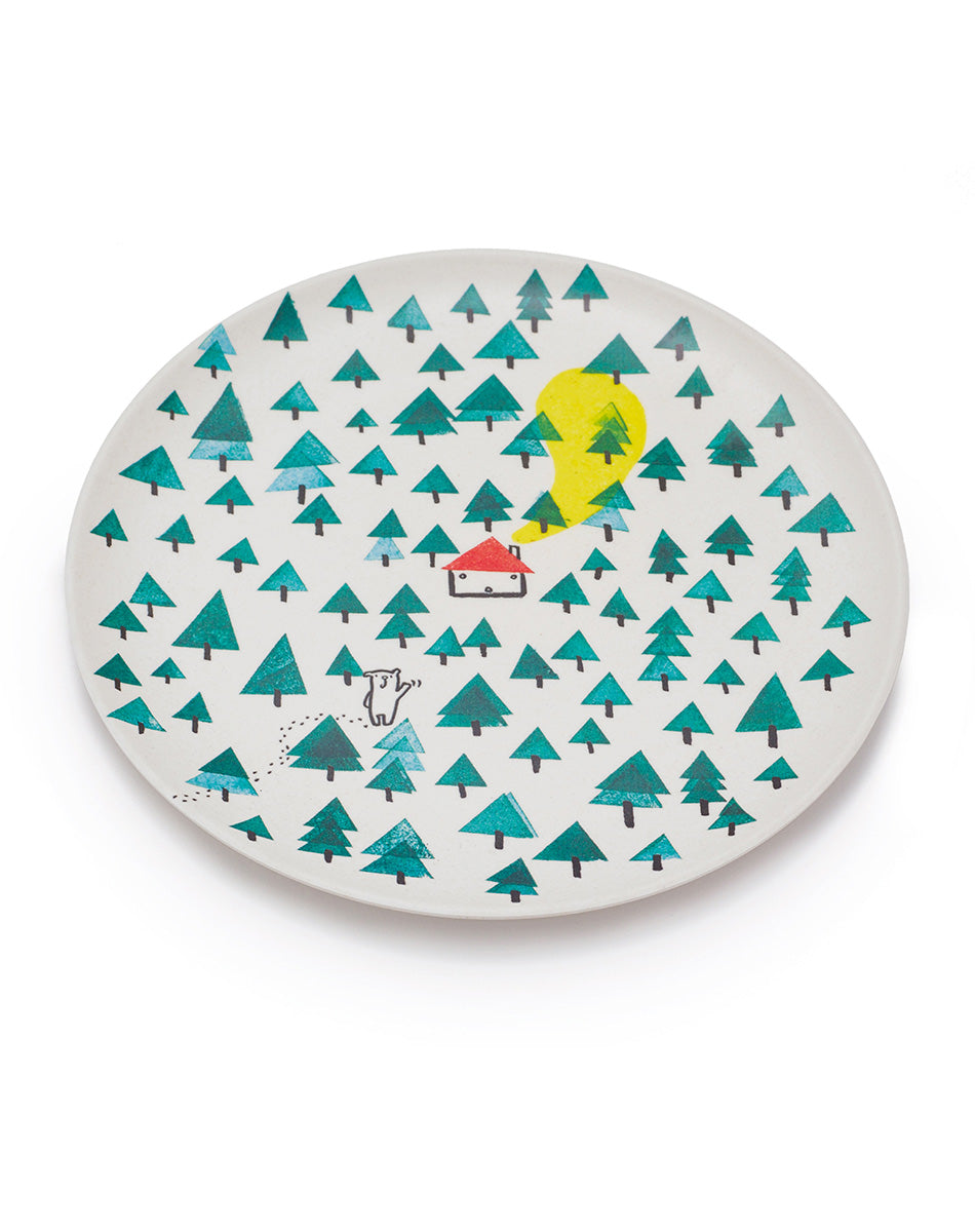 Bear in the Woods Plate