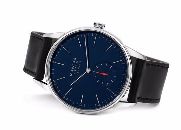 NOMOS Orion Neomatik 39 Midnight Blue (Sapphire Crystal Back / Ref 343)