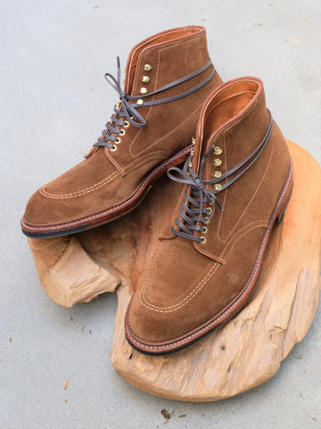 Alden Indy Boots in Snuff Suede