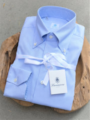 Vanacore Napoli Blue Oxford Button Down Dress Shirt