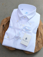 Vanacore Napoli White Oxford Button Down Dress Shirt