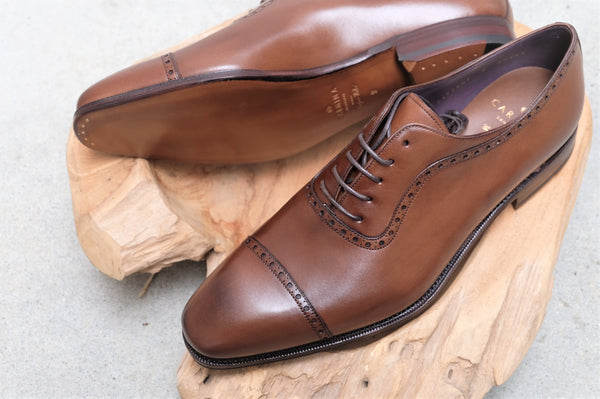 Carmina Shoemaker Captoe Adelaide in Brown Calf