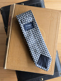 Drake's Navy and White Silk Tie