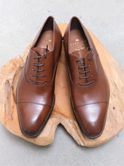 Carmina Shoemaker Captoe Oxford in Brown Calf