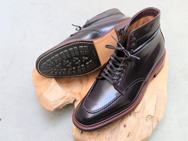 Alden Plaza Indy Boots in Color #8 Shell Cordovan