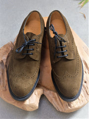 Edward Green Borrowdale in Army Green Suede