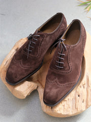 Edward Green Southwold in Mink Suede