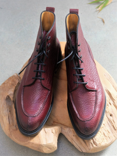 Edward Green Cranleigh Boots in Burgundy London Grain