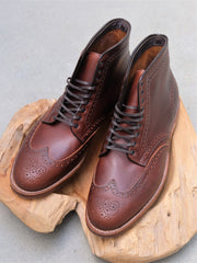 Alden Wingtip Boots in Brown Chromexcel