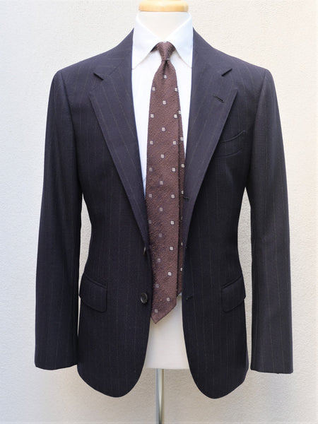 B&Tailor Chalk Stripe Suit in Navy (Lovat Mill, Scotland)