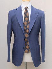 Orazio Luciano Jacket in Blue Irish Linen (Ariston Napoli)