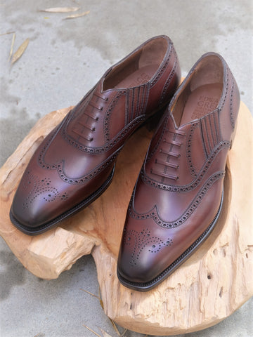 Edward Green Dosan Imitation Full Brogue (Lazyman) in Dark Oak