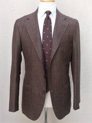 Orazio Luciano Jacket in Brown Wool/Silk/Linen (Ariston Napoli)