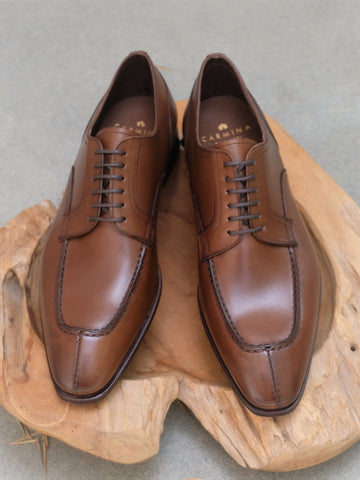 Carmina Shoemaker Split Toe Derby in Brown Calf
