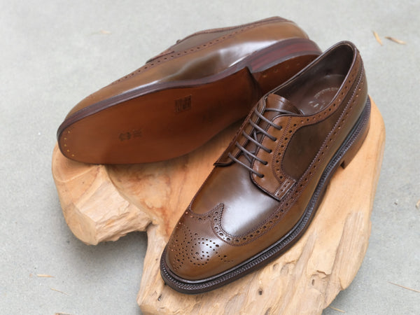 Carmina Shoemaker Longwing Blucher in Armagnac Shell Cordovan