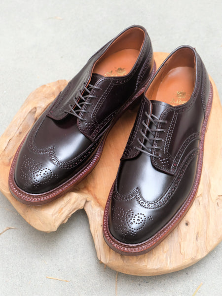 Alden Wingtip Blucher (Short Wing) in Color #8 Shell Cordovan