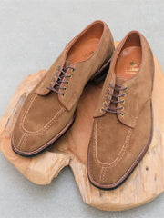 Alden NST (Norwegian Split Toe) Blucher in Snuff Suede