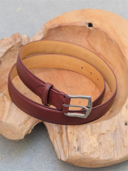 Edward Green Belt in Burgundy Calf