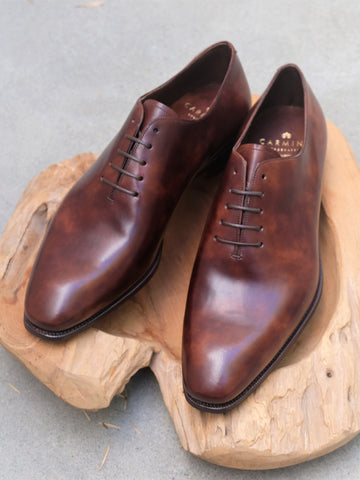 Carmina Shoemaker Wholecut in Brown Museum Calf