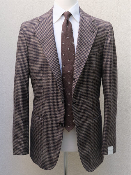 Orazio Luciano Jacket in Brown Houndtooth